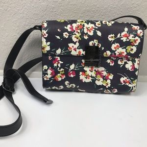 French connection floral crossbody bag